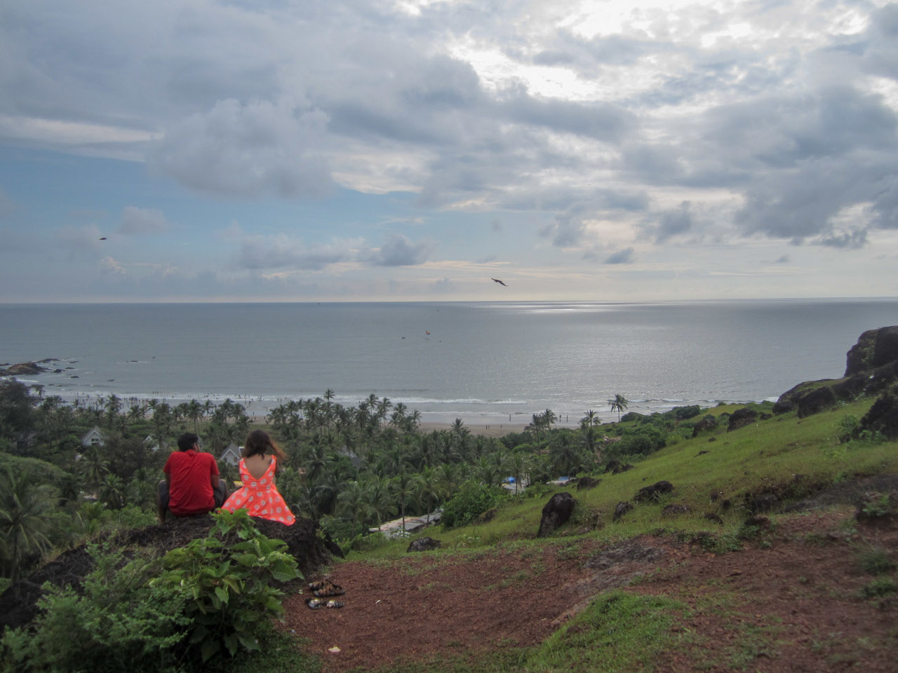 View from Chapora Fort - this fort is one of the best Goa things to do and one of the popular tourist destinations in Goa. Discover more things to do in Goa from this Goa guide