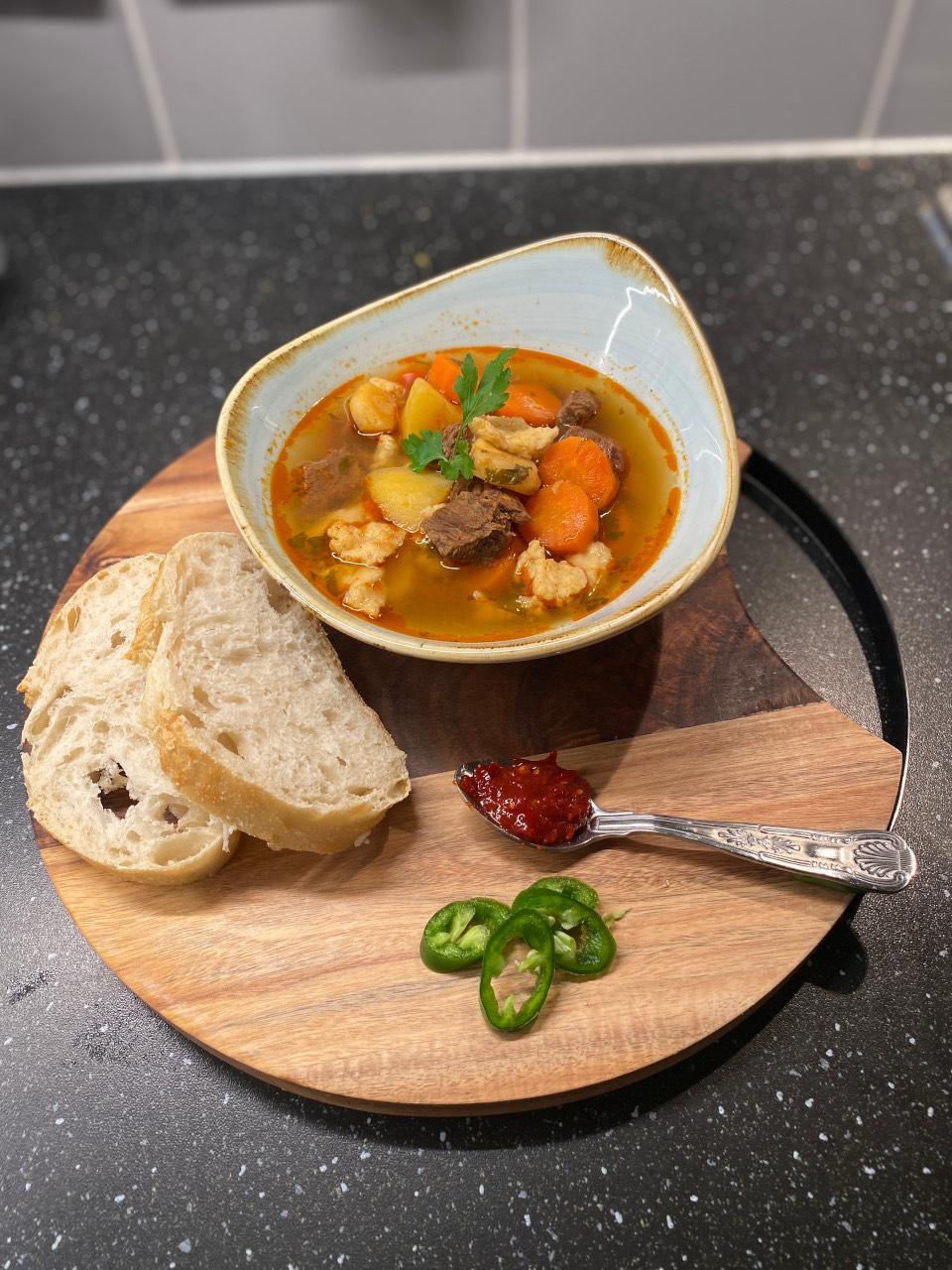 Traditional Hungarian Goulash Recipe. How to make Hungarian beef goulash