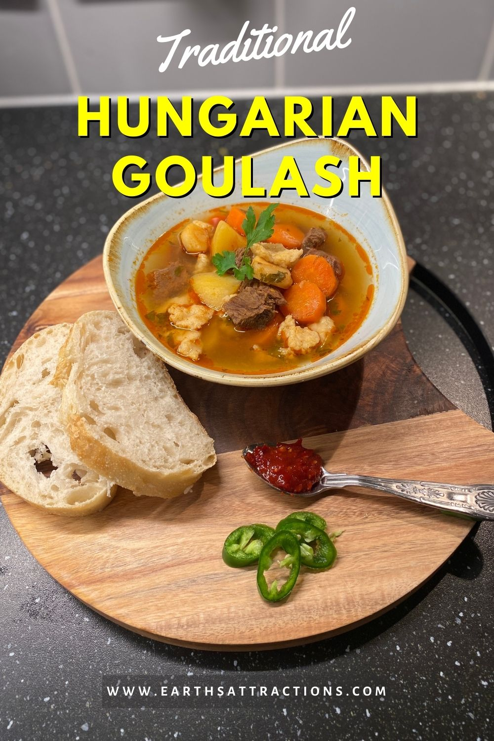 Traditional Hungarian goulash recipe. How to make the authentic goulash! Discover the best beef goulash recipe. #goulash #hungarianfood #hungariandish #internationalfood #food #goulashrecipe #recipe #earthsattractions #hungariangoulash #beefgoulash #beefsoup