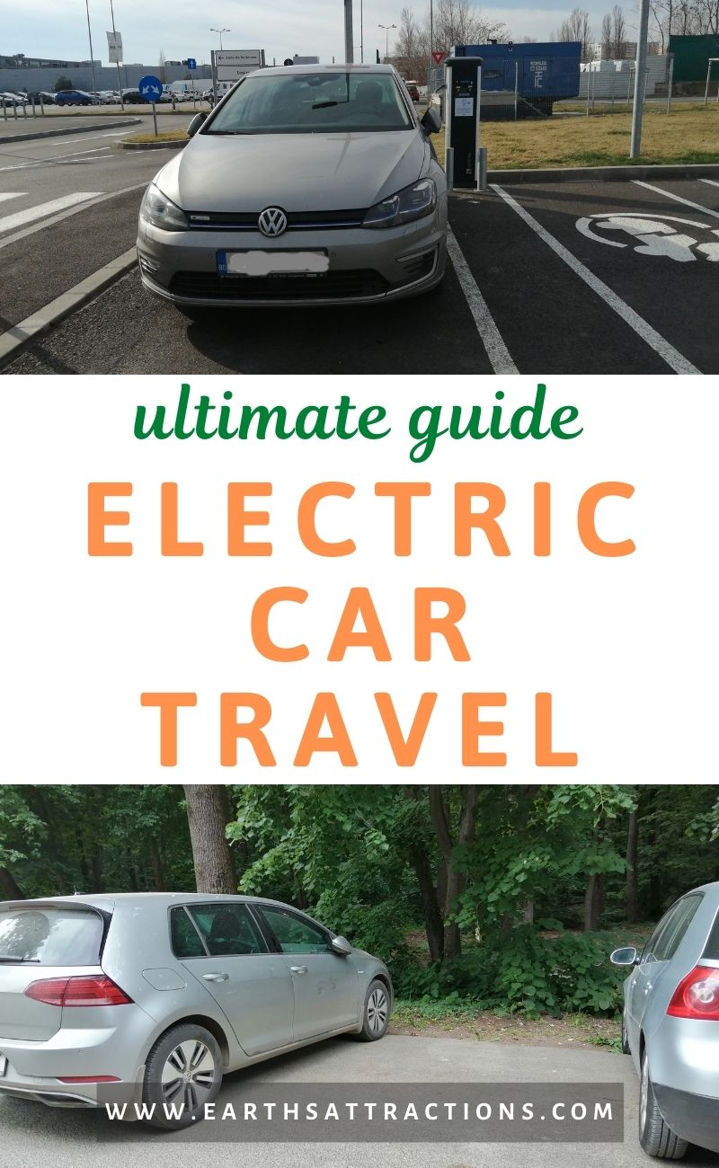How to travel with an electric car: Ultimate EV travel guide. This article includes tips for taking a road trip in an EV, electric car charging stations map, How much does it cost to charge an electric car, How long does it take to charge an electric car, and more. #evtravel #ev #electriccar #egolf #evtravel #evdriving #earthsattractions