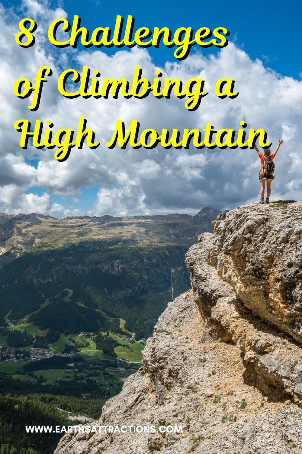 8 Challenges of Climbing a High Mountain. How to be prepared for mountain climbing