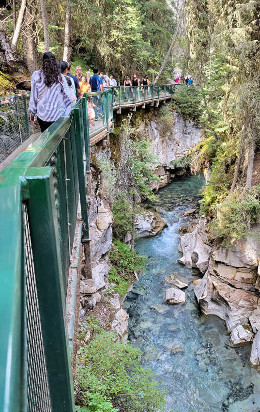 Johnston Canyon - one of the best places to visit on your Canadian Rockies itinerary for 7 days