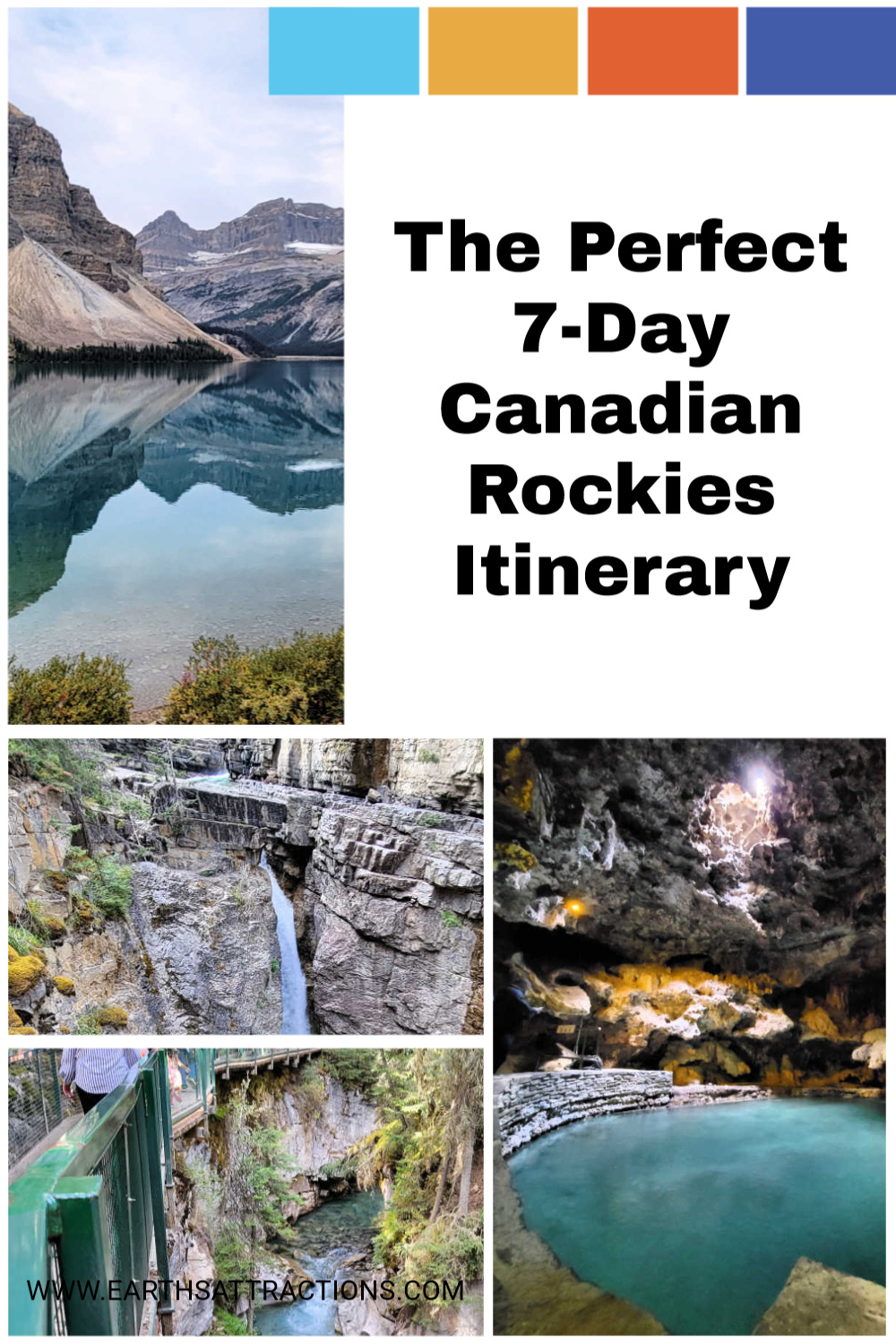Here's the perfect 7-day Canadian Rockies itinerary by a local. Discover what to do in Bannf and Jasper in 7 days! #canada #canadianrockies #rockies #outdoor #jasper #banff #northamerica #northamericatravel #canadatravel #traveldestinations
