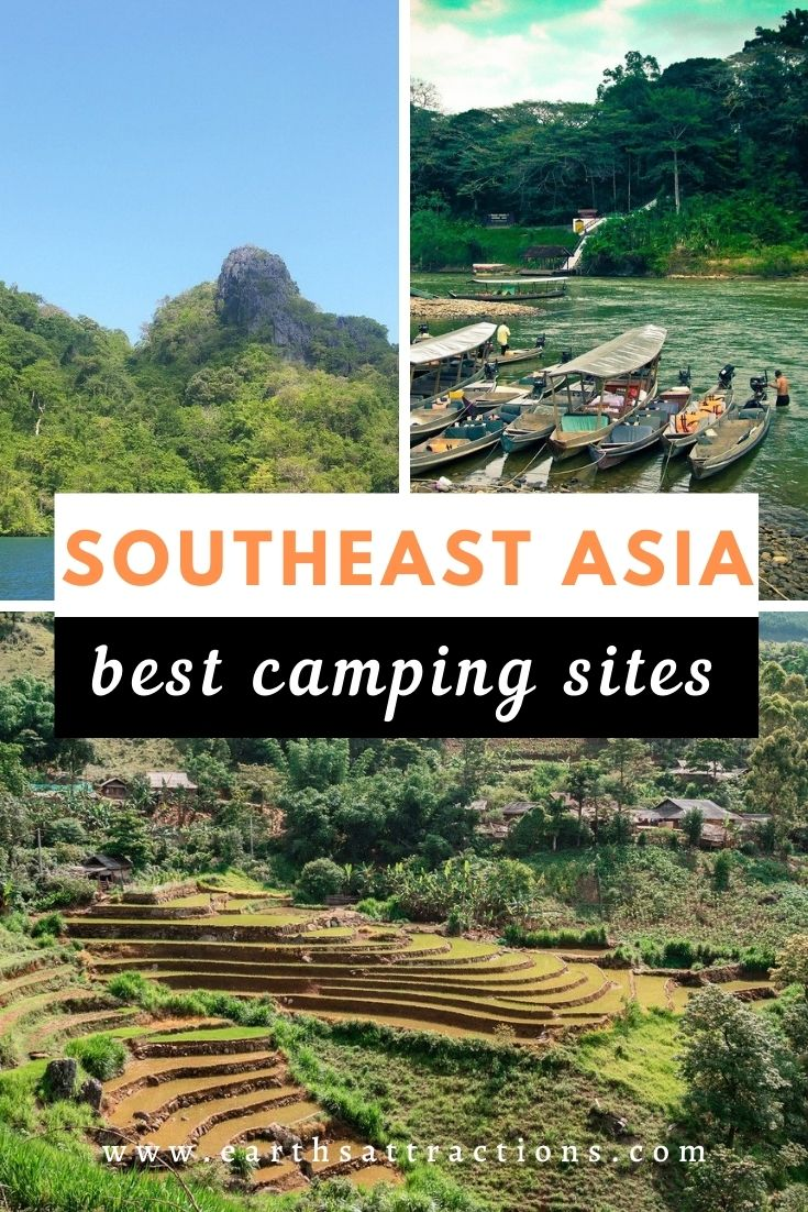 Asian campign spots - discover the best camping sites in Southeast Asia from this article. Famous places for camping in Asia. #southeastasia #asiatravel #camping #southeastasiacamping